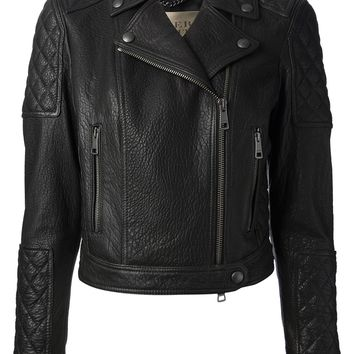 Burberry Brit Quilted Biker Jacket
