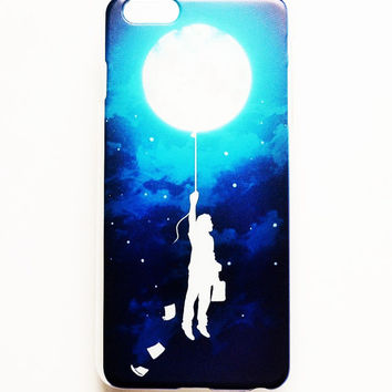 iPhone 6 Plus Case Moon Baloon iPhone 6 Plus Hard Case  Back Cover For iPhone 6 Plus Slim Design Case French