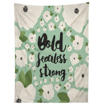 Allyson Johnson Bold Floral Mint Tapestry