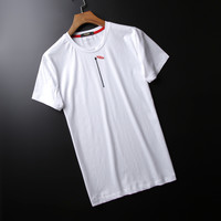 Stylish Simple Design Luxury Men's Fashion Round-neck Cotton Short Sleeve T-shirts [6543946179]