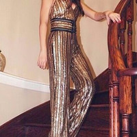 Viviene Sequin Jumpsuit