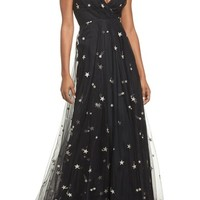 Jenny Yoo Chelsea Starry Night Embroidered Halter Maxi Dress | Nordstrom