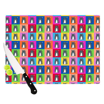 """Bruce Stanfield """"Pussy Cat I Love You"""" Rainbow Cutting Board"""