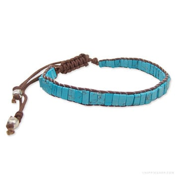 Turquoise Pull String Bracelet on Sale for $9.99 at Hippie Shop
