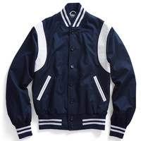 Armhole Baseball Jacket in Navy