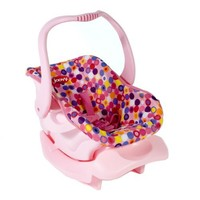 Doll Or Stuffed Toy Car Seat - Pink Dot