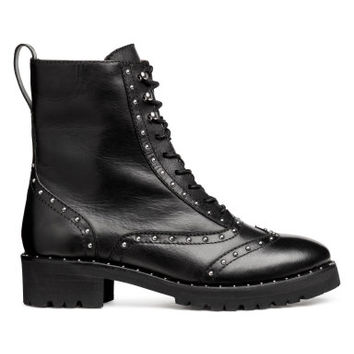 H&M Leather Boots with Studs $79.99