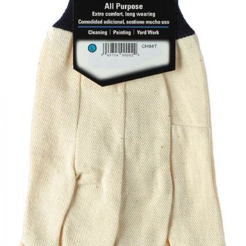 HandMaster® CH84T Cotton Canvas Men's Glove with Blue Knit Wrist Cuff, Large
