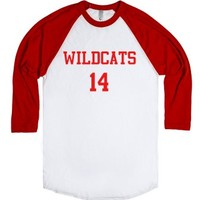 Wildcats Baseball Tee-Unisex White/Red T-Shirt