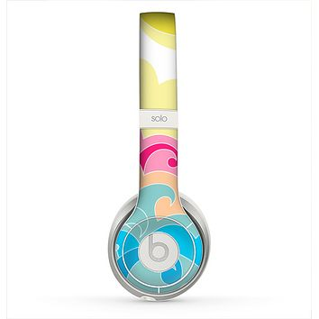 The Cartoon Bright Palm Tree Beach Skin for the Beats by Dre Solo 2 Headphones