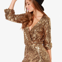 Champagne Gold Romper Suit