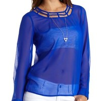 Caged Yoke Top by Charlotte Russe