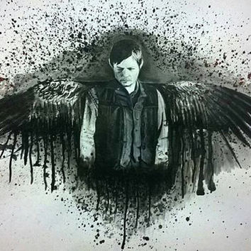 Daryl Dixon Norman Reedus , The Walking Dead ( Original Drawing )
