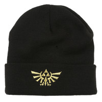 Nintendo The Legend Of Zelda Gold Triforce Beanie