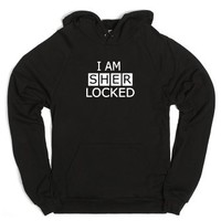 I AM SHERLOCKED-sweatshirt-Unisex Black Hoodie