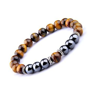 Power and Protection Tiger Eye Hematite Bracelet