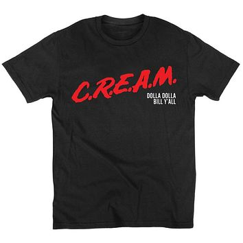 Mens t shirts C.R.E.A.M. DARE Wu-Tang Clan Underground Hip Hop Legends T Shirt Cotton O NECK short sleeved t-shirt