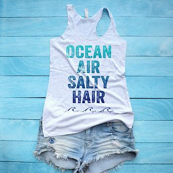 Ocean Air Salty Hair Tank Top