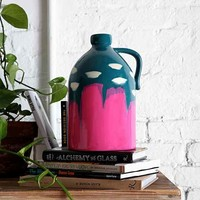 4040 Locust Handpainted Jug - Green Multi One