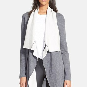 Women's Vince Two-Tone Drape Cardigan,