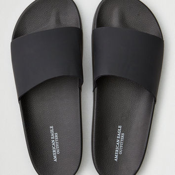 AEO Solid Slide Sandal, Black