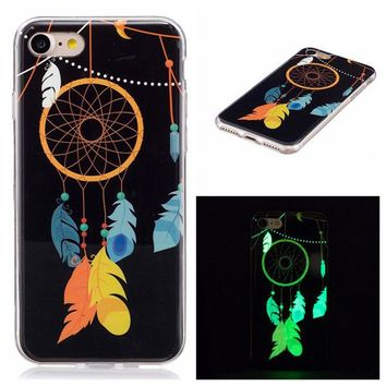 Fashion Luminous Case For iphone 7 7 Plus Funda Cute Embossed Cartoon Pattern Clear Ultra Thin Soft TPU Skin Cover Shell Case