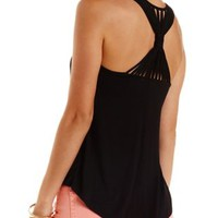 Strappy Racerback High-Low Tank Top by Charlotte Russe