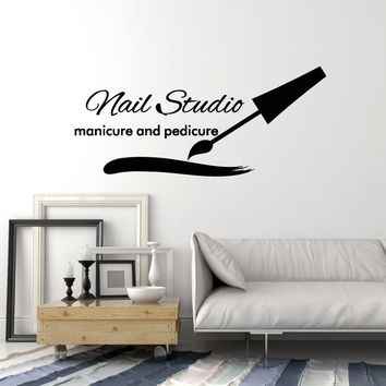 Vinyl Wall Decal Nail Studio Manicure Pedicure Beauty Salon Art Decor Stickers Mural Unique Gift (ig5100)