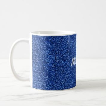 Blue Glitter Coffee Mug