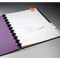 "M by Staples Arc Customizable Durable Poly Notebook System, Black, 9-3\/8"" x 11-1\/4\"" 