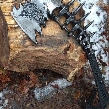 Viking axe, tomahawk, hatchet, viking gifts, mens gifts, gifts for men, man gifts, manly gift, 6th anniversary, his birthday gift, skeleton