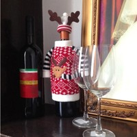 Christmas Decoration Wine hold towels hold bottles Covers gift Santa Claus snowman Christmas Gifts Christmas Decoration for Home