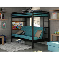 Walmart: Dorel Twin-Over-Futon Bunk Bed, Black