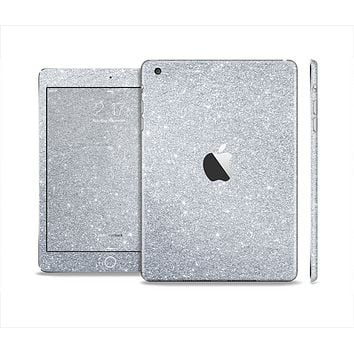 The Silver Sparkly Glitter Ultra Metallic Skin Set for the Apple iPad Mini 4