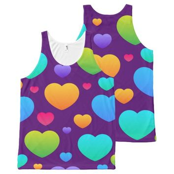 Vintage Love All-Over-Print Tank Top