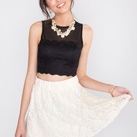 Chanell Lace Skirt - Ivory