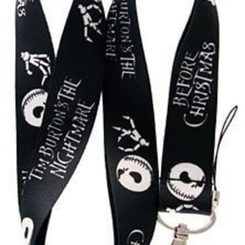 Nightmare Before Christmas Keychain Badge Holder Costume Props Lanyard