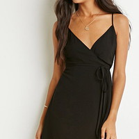 Surplice Wrap Cami Dress