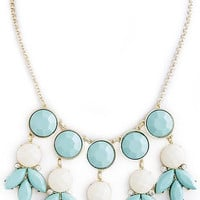 Blue and White Dangle Necklace