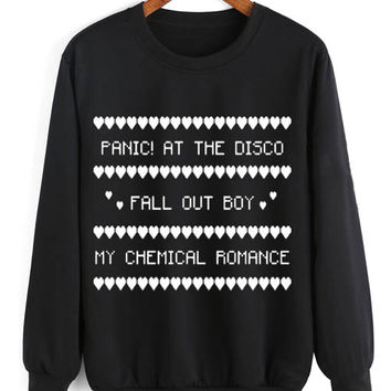 panic at the disco fall out boy ugly christmas sweater - Fall Out Boy Christmas