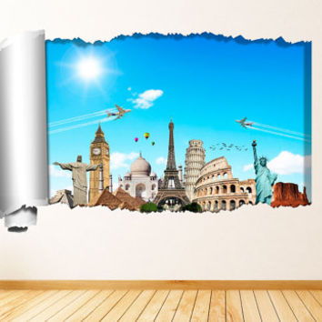 There is a World Out There - Tear Off Wall , Decal for housewares