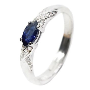 Natural Blue Sapphire Sterling Silver Ring