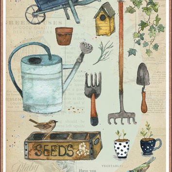 Shop vintage garden tools on wanelo for Gardening tools vintage
