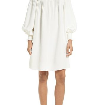 Tibi Edwardian Crêpe de Chine Short Dress | Nordstrom