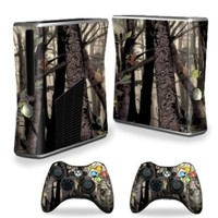 Mightyskins Protective Vinyl Skin Decal Cover for Microsoft Xbox 360 S Slim + 2 Controller skins wrap sticker skins Tree Camo