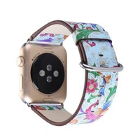 Nature style Strap for Apple Watch band 38/42mm Series 1 2 Leather
