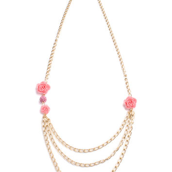 Pastel Rose Layer Necklace