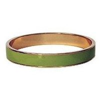 Enamel Bangle Bracelet 16k Gold Plated Lime Green