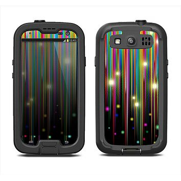 The Falling Neon Color Strips Samsung Galaxy S3 LifeProof Fre Case Skin Set