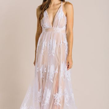 Angeline Velvet Lace Maxi Dress